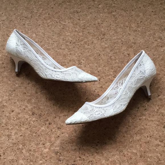 ad1c1a78ce1 Adrianna Papell Shoes - Adrianna Papell Lois Ivory Lace Pumps